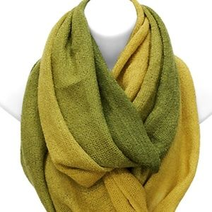 BOGO!  Ombre Green Yellow Scarf